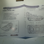 gi joe vs cobra instructions blue prints 2002 COBRA TREAD FIRE